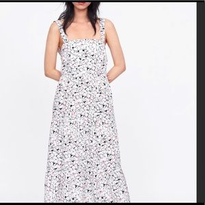 NWT Zara printed maxi dress